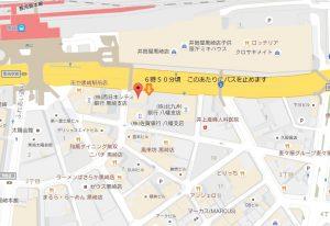 黒崎バス停止場所
